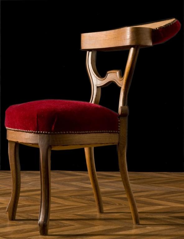 chaise de fumeur r tro vintage ancienne de fumeur velours rouge meuble ancien mobilier. Black Bedroom Furniture Sets. Home Design Ideas