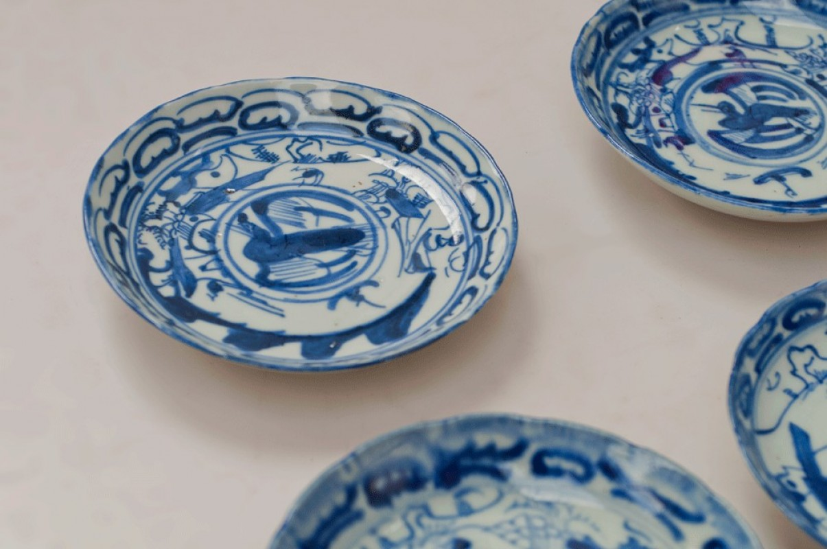 Ancient Chinese Small Plates Saucers Antique Hand