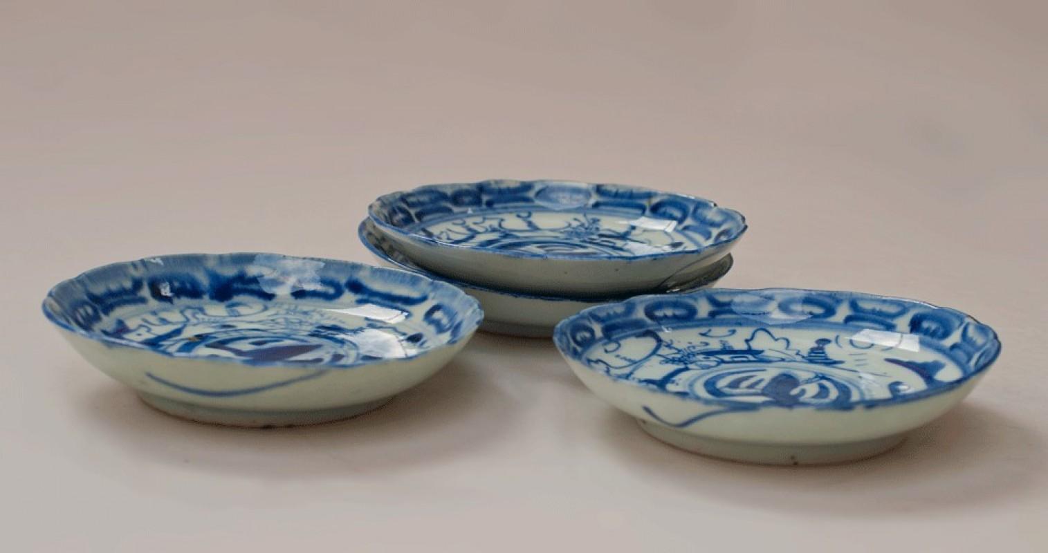 assiette ancienne chinoise porcelaine blanche peint la main soucoupe chine. Black Bedroom Furniture Sets. Home Design Ideas