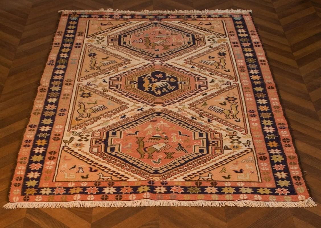 Tapis kilim turquie laine soie occasion fabrication artisanale la main couleurs naturelles Beaux tapis contemporains