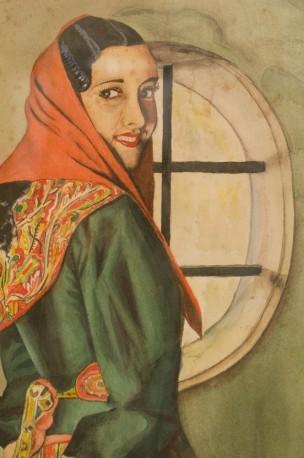 Tableau Ancien Retro Peinture Sur Toile Gouache Annees 50 1950 Peinture 50 Danseuse Flamenco Espagne Espagnole