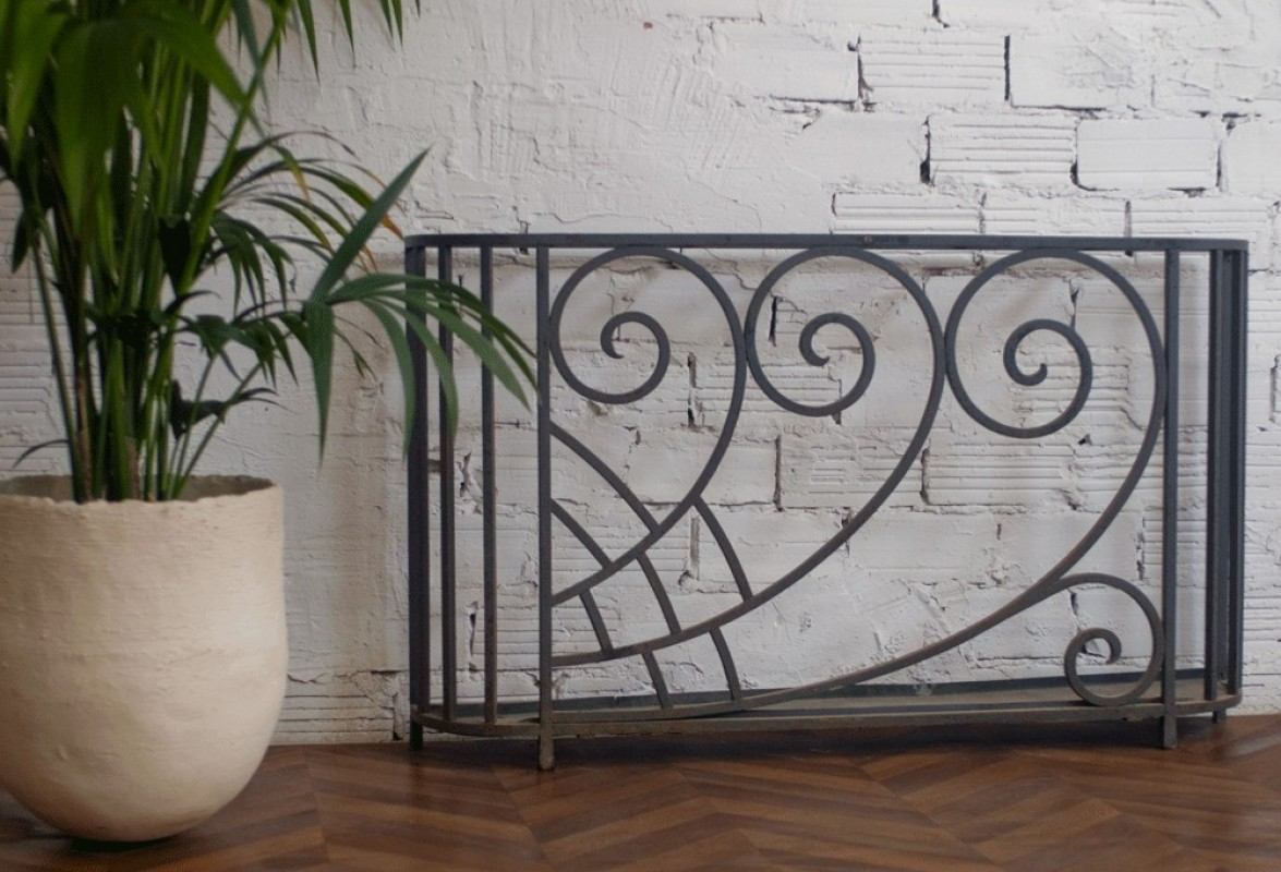 Art Deco Furniture 30s Furniture 1930 Umbrella Holder Steel  # Tabl Ferforge Modele
