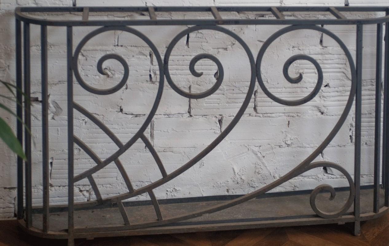 Porte Parapluie Art D Co Ancien R Tro Fer Forg Ann Es 30  # Porte De Meuble En Fer Forge