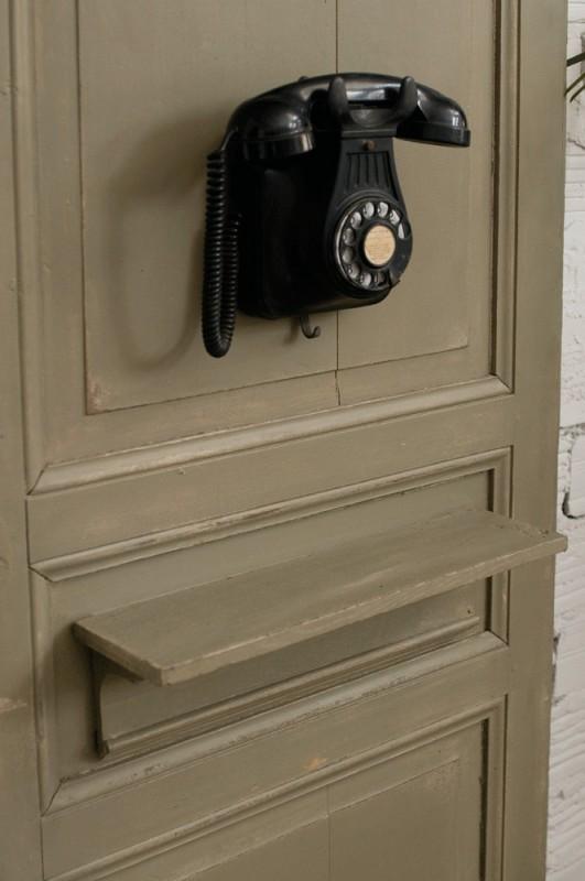 Porte cabine t l phone ancien r tro 1930 ann es 30 for Porte decorative
