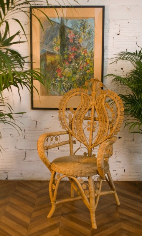 Chaise Vintage En Rotin Chaise Coeur Osier R 233 Tro