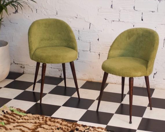 Chaises vintage, années 1950, une paire