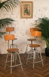 Chaises dessinateur 50s