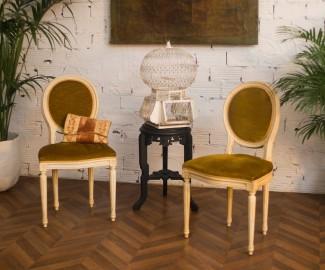 Chaises style Louis XVI, une paire
