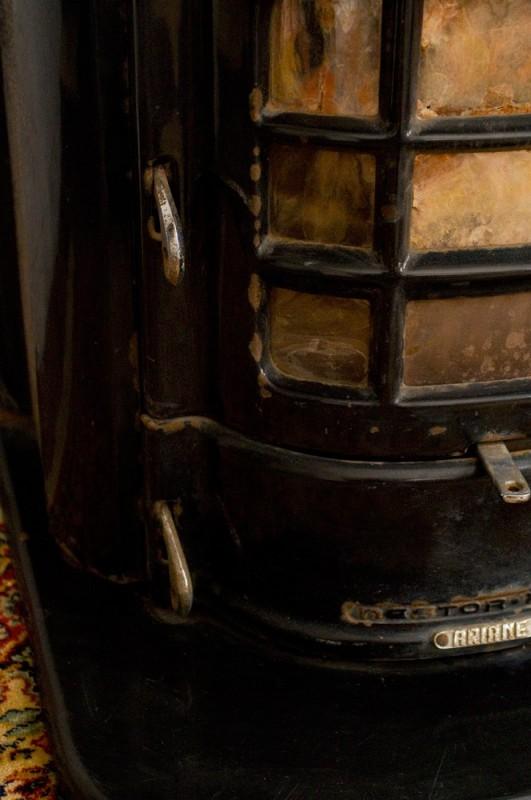 poele a bois, ancien, vintage, retro, nestor martin