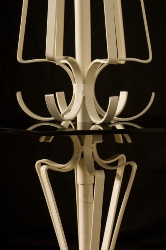 Pied De Lampe Lampe Fer Forge Ancien Vintage Royere Blanc