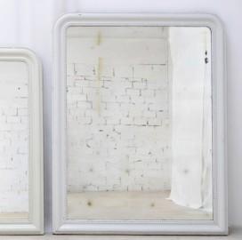 Mirror, White Frame, Louis Philippe