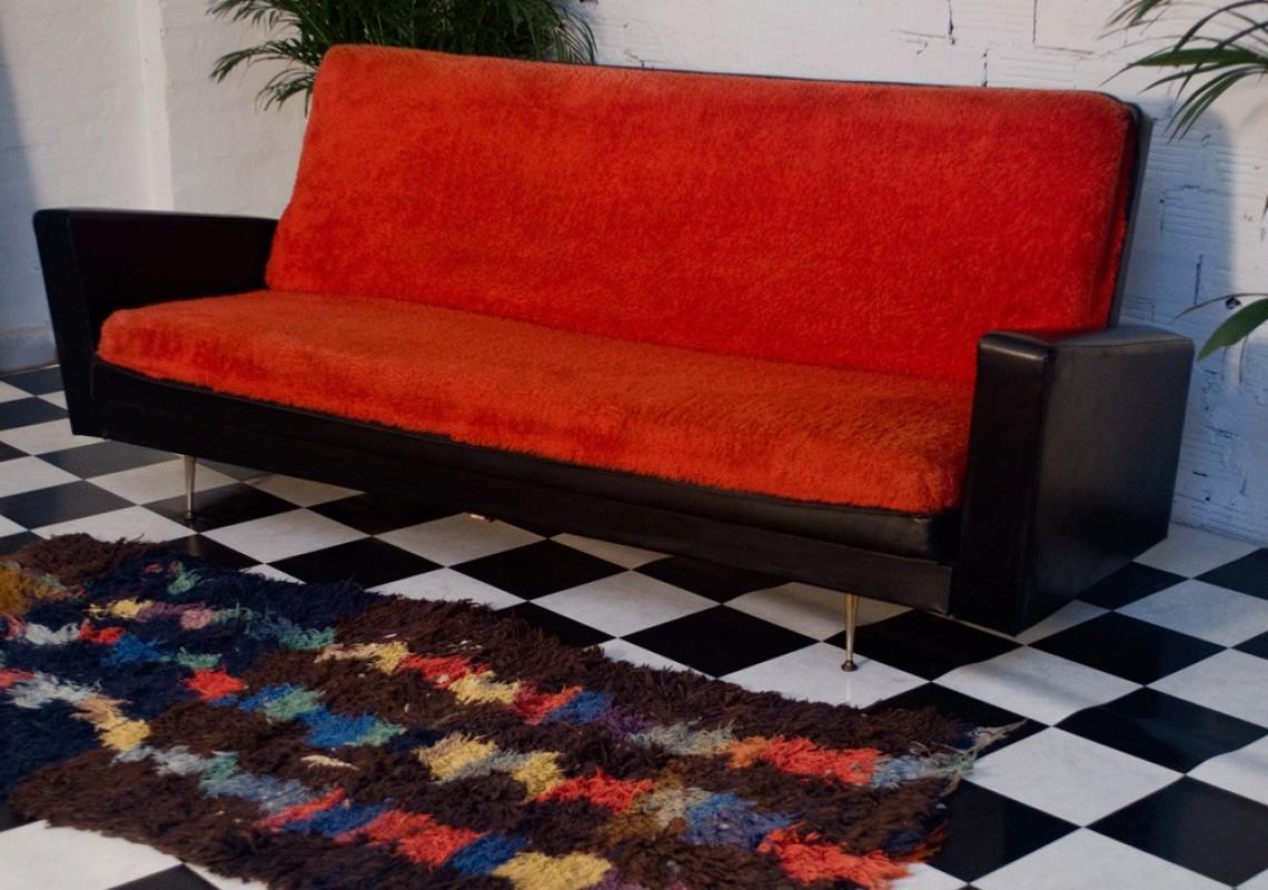 Salon Canapé Rouge : Canapé vintage années meuble mobilier déco s
