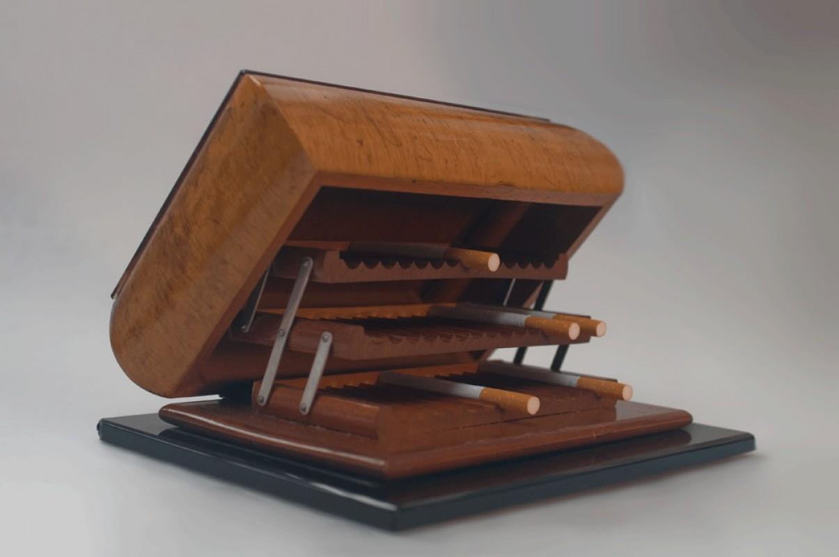 Cigarettes Box Vintage Retro 1950 50s Art Deco Style