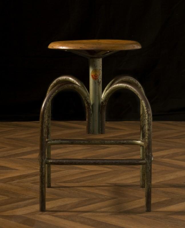 Tabouret de dessin chaise dessinateur industriel et vintage design unique marque h liolithe - Tabouret d atelier vintage ...