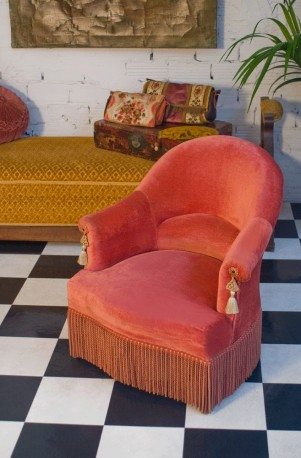 fauteuil crapaud ancien 1950 ann es 50 mobilier meubles ann es 50 style napol on iii. Black Bedroom Furniture Sets. Home Design Ideas