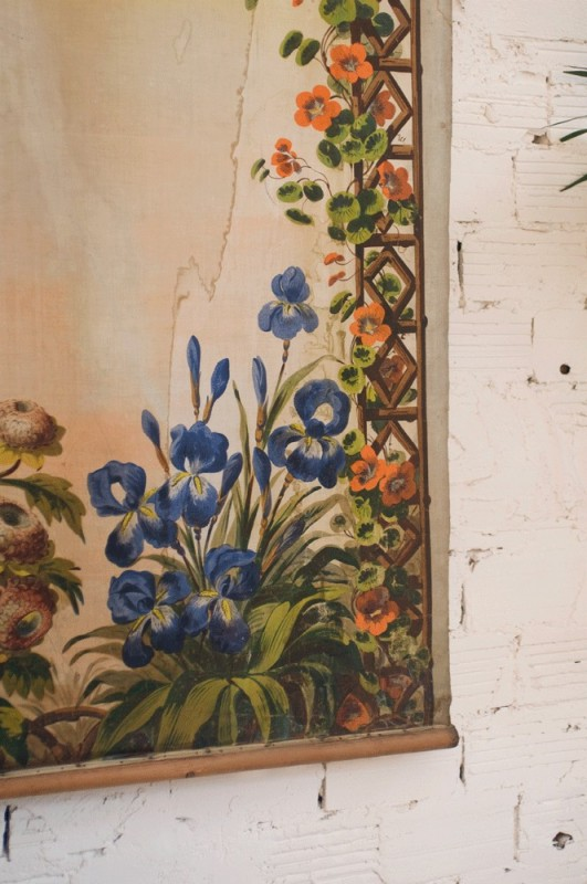 Large Tapestry Late Nineteenth Century Hand Painted