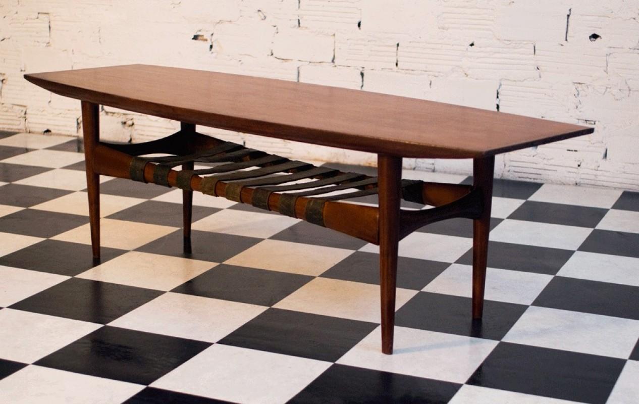 table basse scandinave vintage ann es 50 ann es 60 70 r tro meuble unique. Black Bedroom Furniture Sets. Home Design Ideas