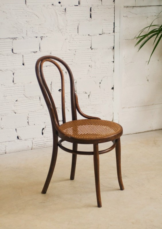 Thonet chairs vintage retro antique bistro chair for Chaise bistrot thonet