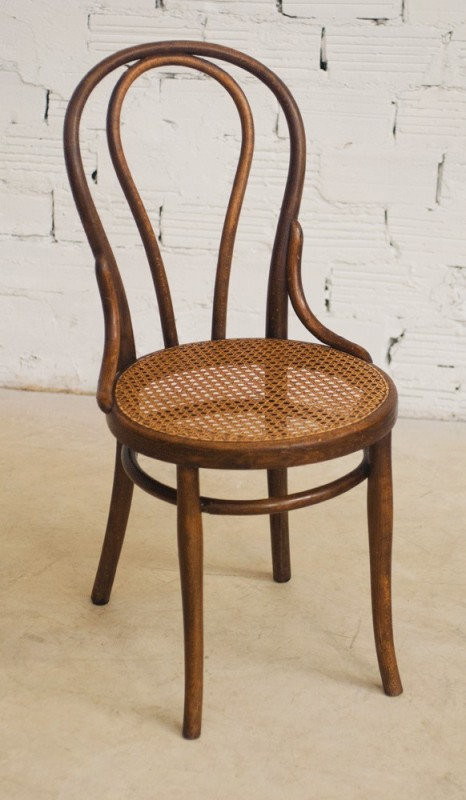 Thonet chairs vintage retro antique bistro chair the 20s wood turned canage seat - Chaises bistrot anciennes ...