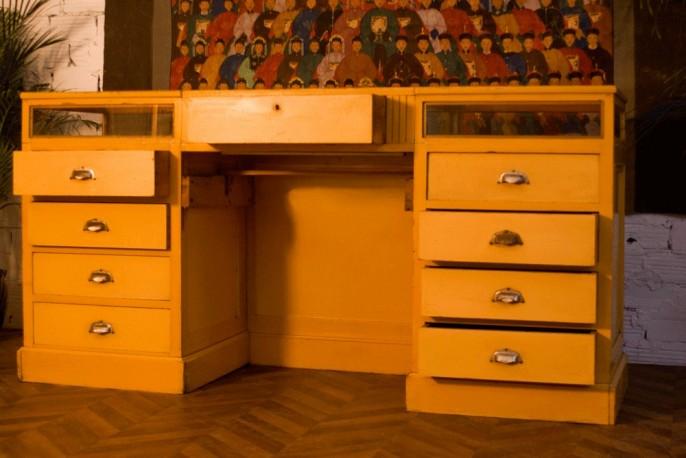 comptoir m tier ancien vintage epicerie mercerie bijouterie vitrine 1920 1930 1950 en. Black Bedroom Furniture Sets. Home Design Ideas