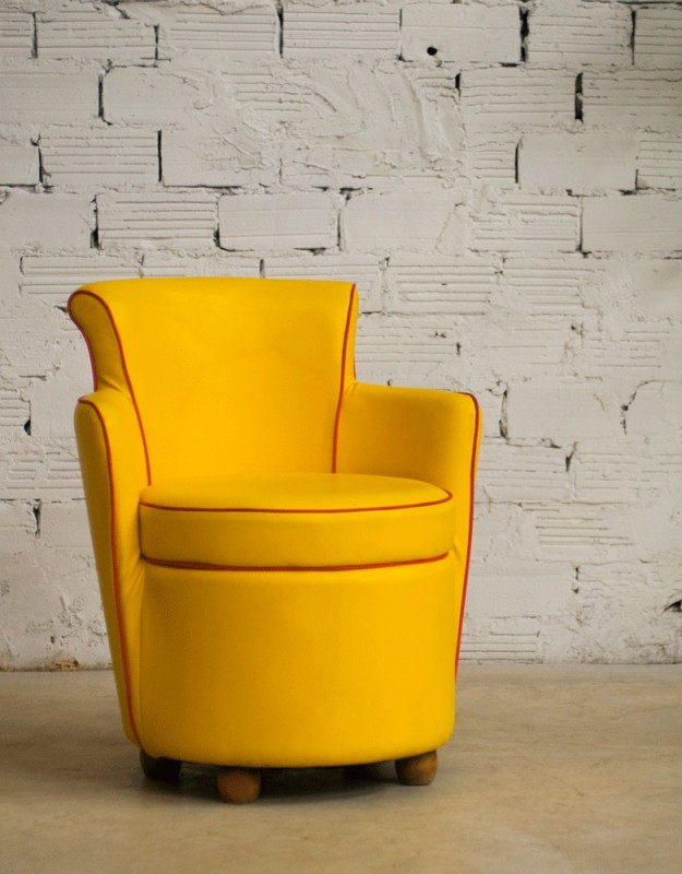 fauteuil vintage fauteuil salon vintage ska moleskine. Black Bedroom Furniture Sets. Home Design Ideas