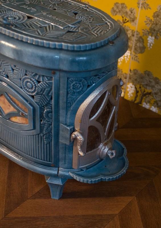poele bois ancien vintage art d co le non pareil delville delville cie r tro 1950. Black Bedroom Furniture Sets. Home Design Ideas