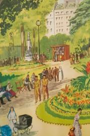 Affiche d'école vintage, années 50