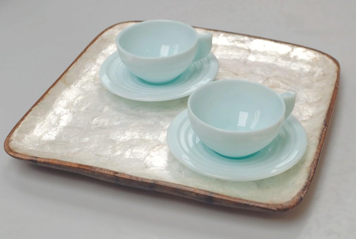tasses caf art d co vintage ann es 50 1950. Black Bedroom Furniture Sets. Home Design Ideas