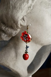 """Jolis Coquelicots"", fancy earrings"