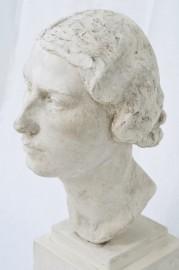 Woman plaster bust 1936