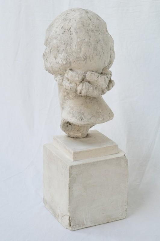 Statue buste en pl tre femme ann es 30 1936 objet de for Objet platre deco
