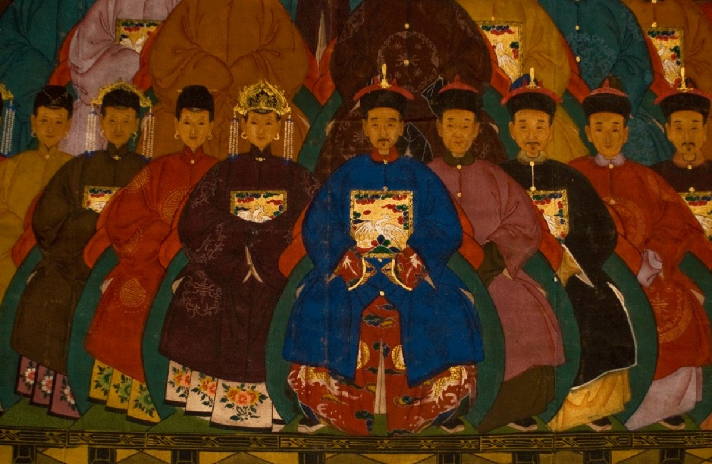 Authentic Ancient Chinese Painting Canvas Portrait
