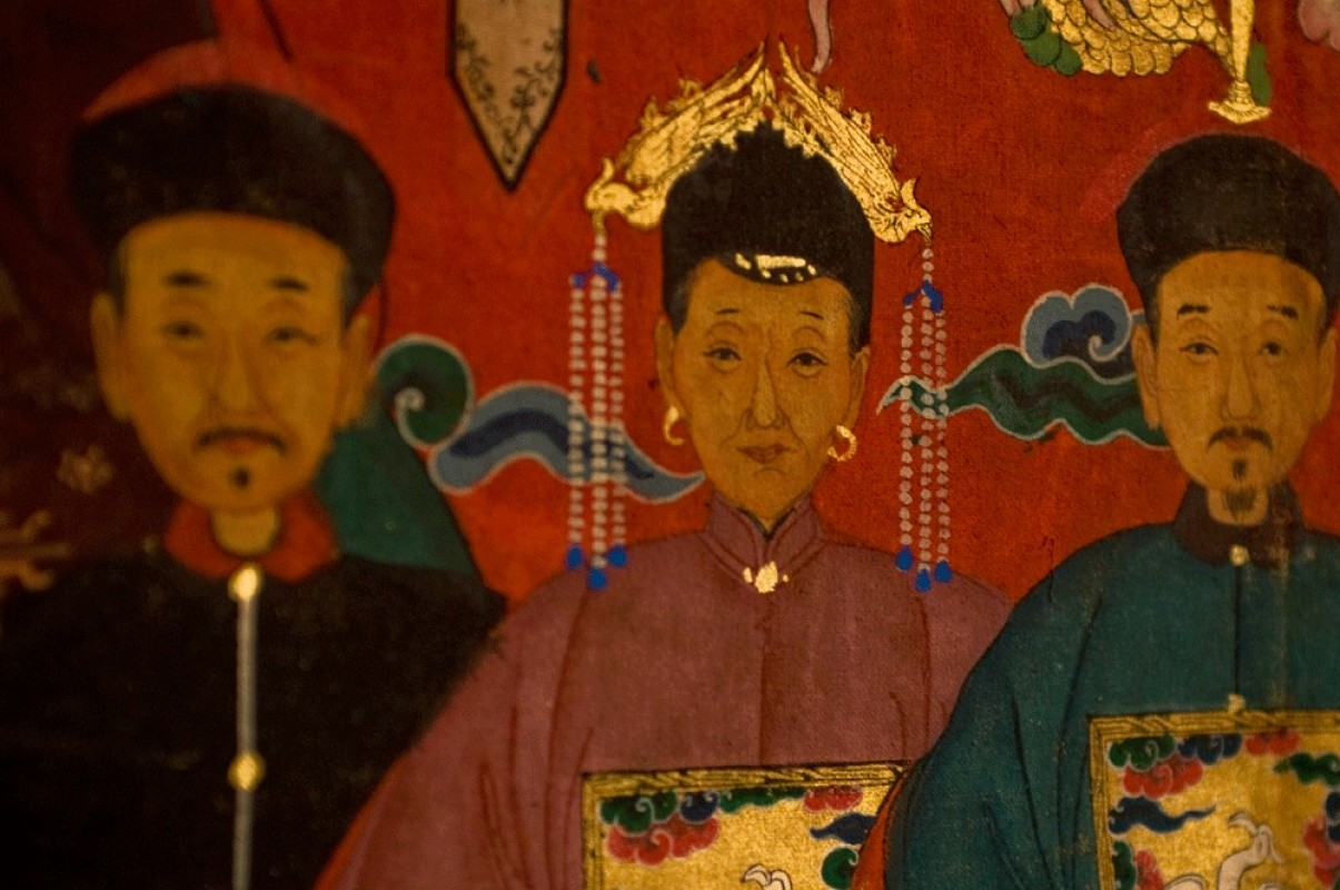 chinese ancient hanging portrait china painting canvas