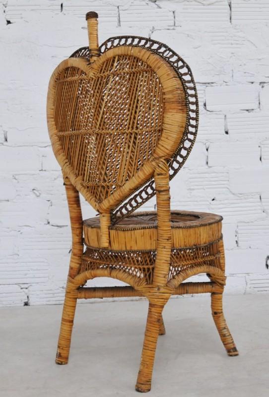 chaise ancienne en rotin ann es 1920 mobilier en rotin ancien pi ce unique. Black Bedroom Furniture Sets. Home Design Ideas