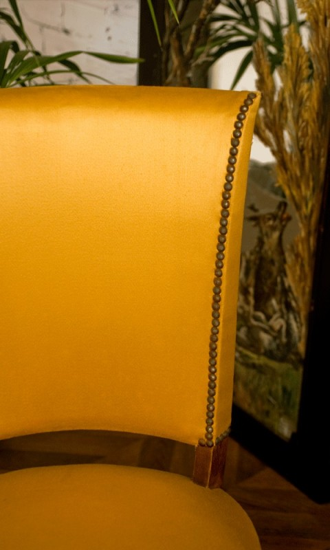 Vintage Chairs Art Deco Chairs 1950 Wood Yellow