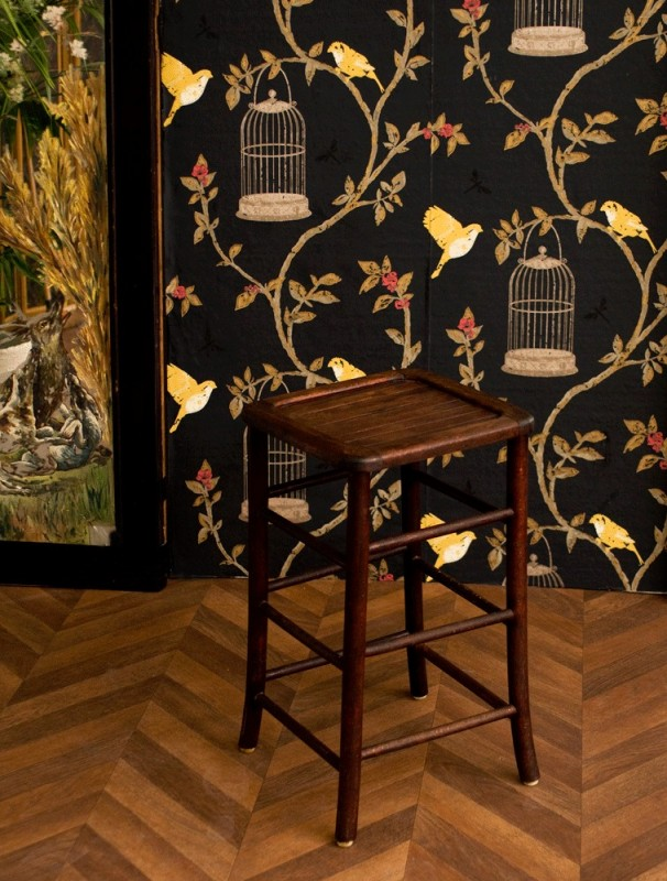 tabouret en bois vintage r tro tabouret d 39 atelier atelier 1950 50s. Black Bedroom Furniture Sets. Home Design Ideas