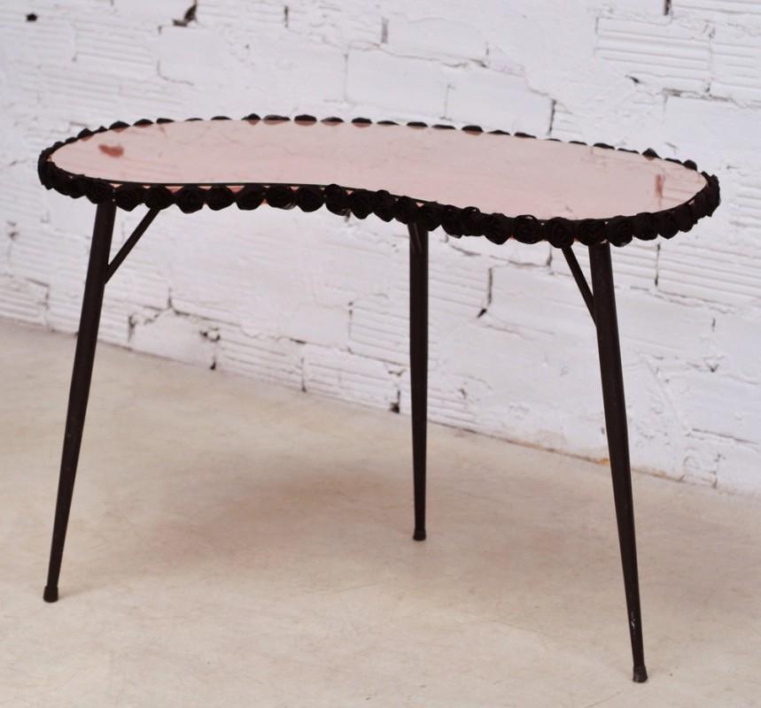 table de toilette vintage r tro ancienne meubles mobilier ann es 50 1950 rose poudr. Black Bedroom Furniture Sets. Home Design Ideas