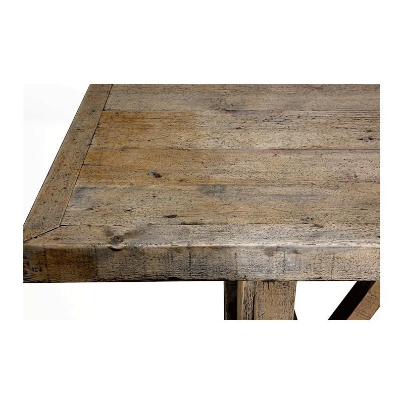 Table de ferme table de campagne vintage grande bois for Grande table bois brut