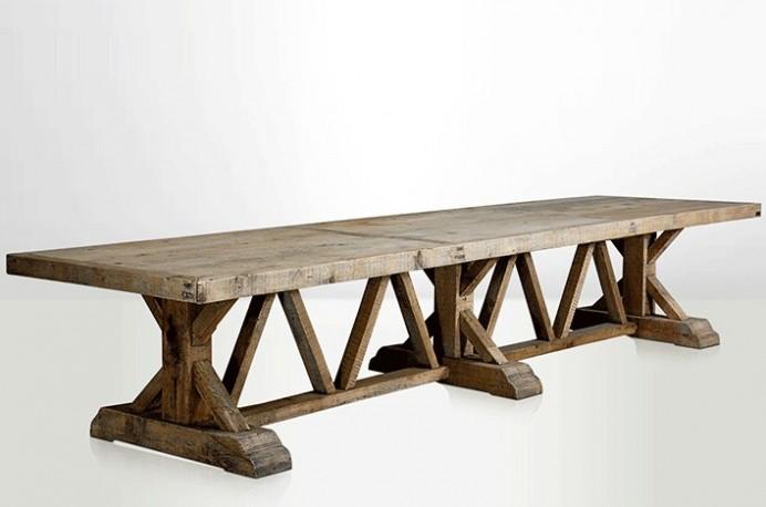 grande table de ferme table de ferme ancienne table en. Black Bedroom Furniture Sets. Home Design Ideas