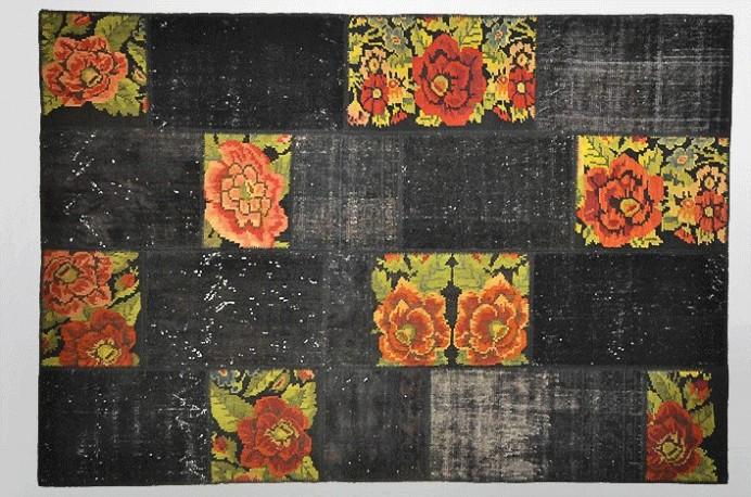 "Tapis vintage turc patchwork ""Gatsby"""