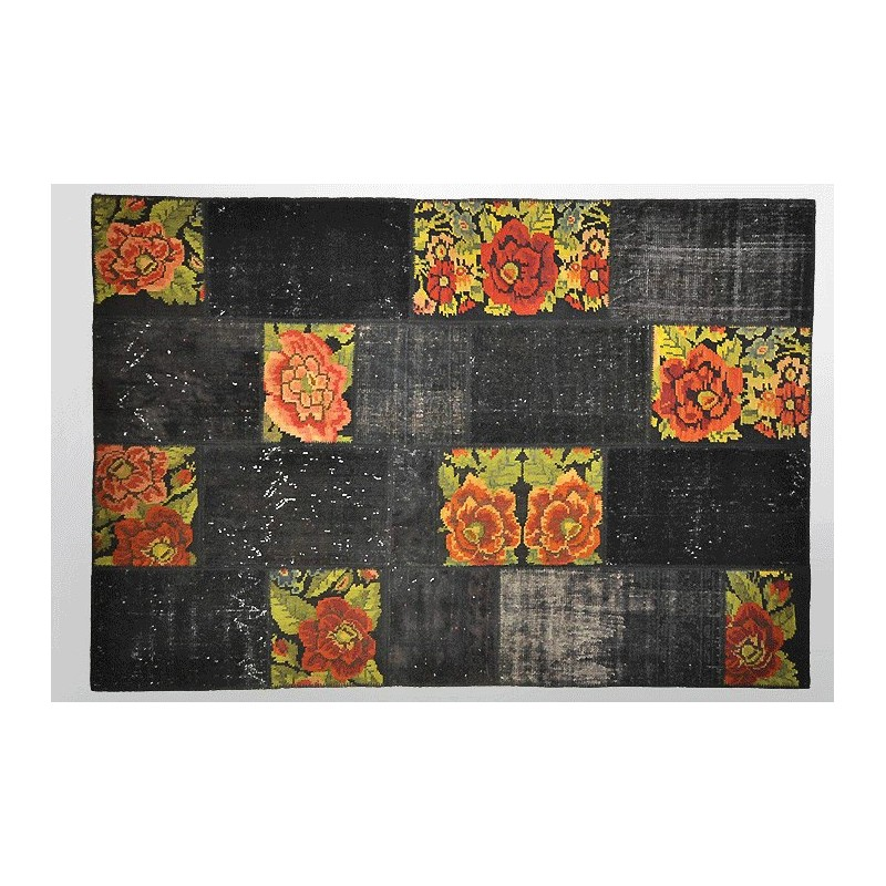 tapis vintage tapis ancien tapis patchwork tapis fait main tapis turc ancien tapis turc. Black Bedroom Furniture Sets. Home Design Ideas