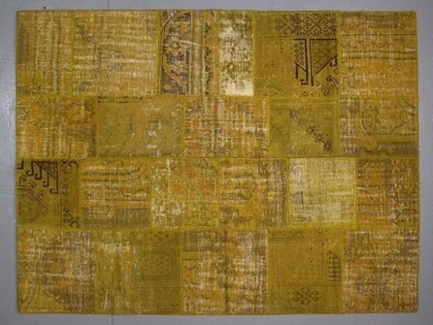 Vintage carpet vintage rug vintage patchwork rug vintage carpet turkish - Tapis cuir patchwork ...