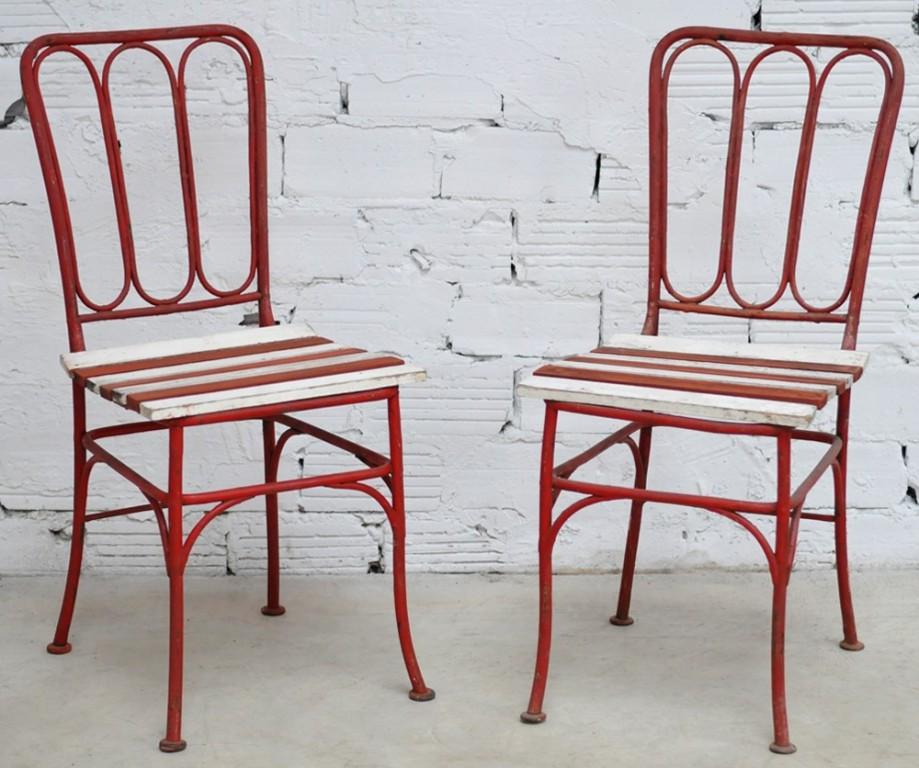 paire de chaises de jardin. Black Bedroom Furniture Sets. Home Design Ideas