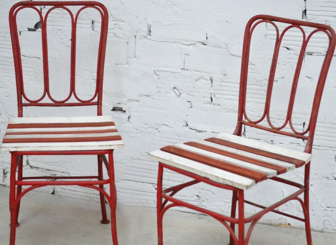chaises vintage en fer forg meubles anciens mobilier. Black Bedroom Furniture Sets. Home Design Ideas