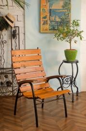 """Le canotier"", Large Armchair in Teak"