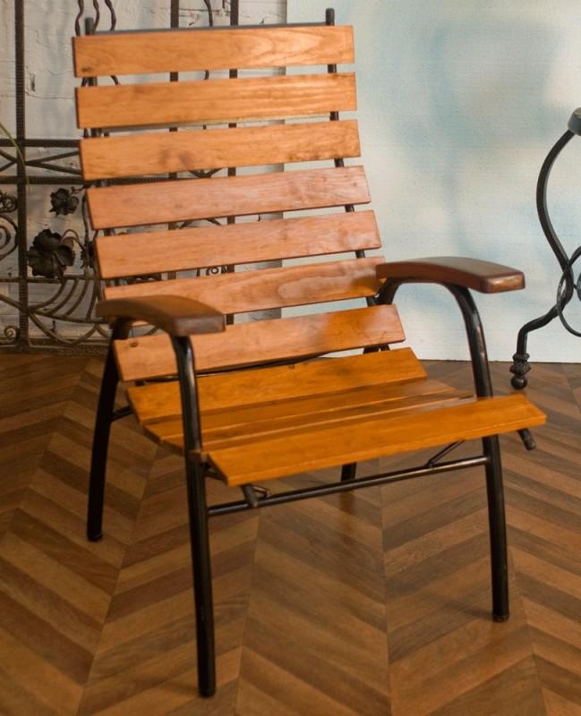 grand, fauteuil, jardin, extérieur, vintage, années 50 ...