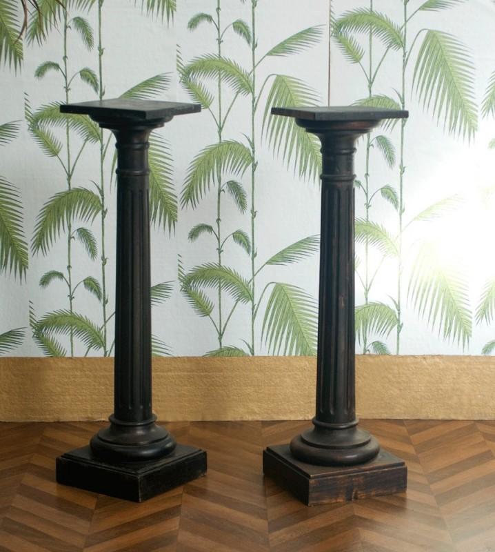 colonne bois ancienne napol on iii selette r tro ch ne. Black Bedroom Furniture Sets. Home Design Ideas