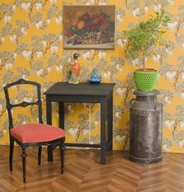 bureau bois noir pupitre ancien vintage poque napol on iii niii. Black Bedroom Furniture Sets. Home Design Ideas