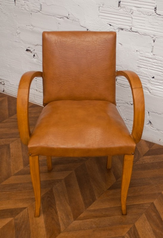fauteuil bridge en simili cuir camel arteslonga. Black Bedroom Furniture Sets. Home Design Ideas
