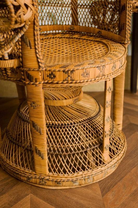 emmanuelle chair vintage rattan armchair vintage wicker emmanuelle chair 1970 late 70s. Black Bedroom Furniture Sets. Home Design Ideas